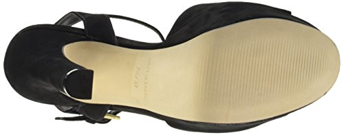 Steve Madden Hypperr Nubuck, Women's Open-Toe Heeled Shoes Black
