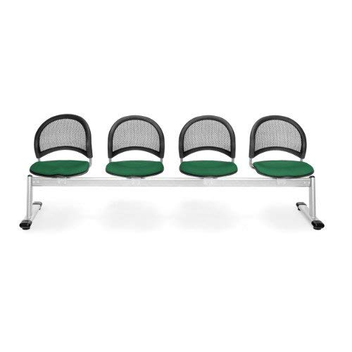 - OFM 334-2221 Moon 4-Unit Beam Seating with 4 Seats, Forest Green