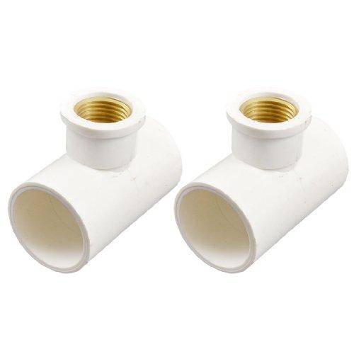 uxcell 2 Pcs 32mm x 32mm PVC Slip to 1/2