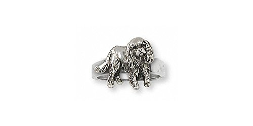 Cavalier King Charles Spaniel Jewelry Sterling Silver Cavalier King Charles Spaniel Ring Handmade Dog Jewelry CV29-R