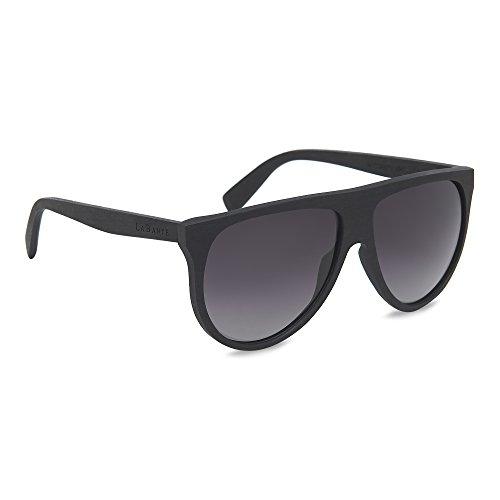 LaBante London 'Sophia' Recycled Ebony Wood Aviator Designer Polarized Sunglasses for Women & Men. 100% UV Protection (Aviator London)