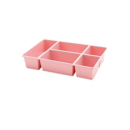 Elaco Cosmetic Storage Box Plastic Multi-Grid Drawer Debris Sorting Box Storage Rack Desktop Organizer Bag Blanket