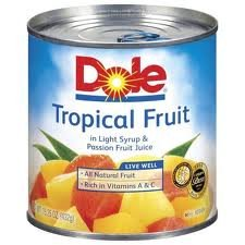 - Dole, Tropical Fruit in Light Syryp & Passionfruit Juice, 15.25oz Can (Pack of 6)