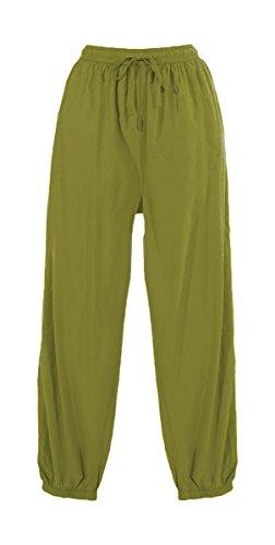 Coline Coline Pantalon Pantalon Coton Uni Anis 6qgdn