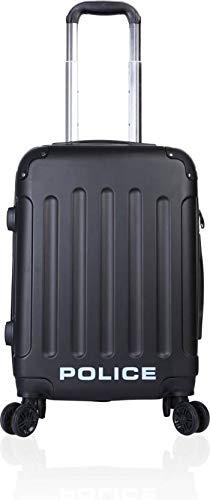 Buy Black Color Police Brand Cabin Luggage Trolley Bag Four Wheels ... 83ab5c3b5ec0f