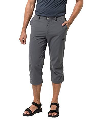 Jack Wolfskin Men's Activate Light 3/4 Men's Soft Shell Hiking Pants Pfc Free,Dark Iron ,50 (U Small 34/32)