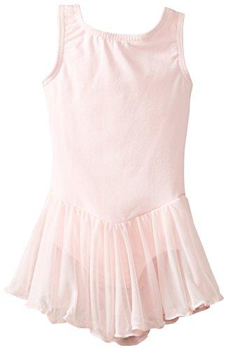Clementine Apparel Girls' Little (2-7) Leotard Dress Sleeveless Tank One Piece Ballerina Top Dancewear Costume, Light Pink, 4-6
