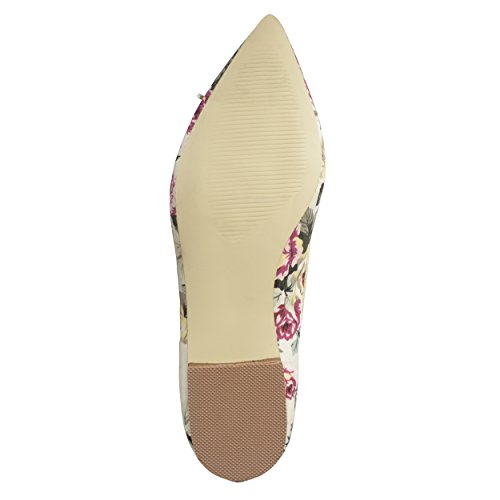 Ballet Womens Floral Flats Journee Collection Toe Womens Journee Collection Bow Pointed Pointed Toe 1BTwqYBv7