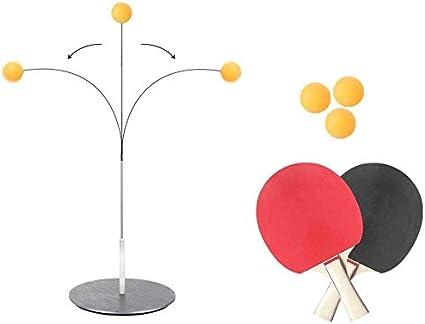TUSNAKE Table Tennis Trainer Equipo,Vision Training Altura Ajustable Descompresión para Principiantes y Niños, para Uso en Interiores o Exteriores