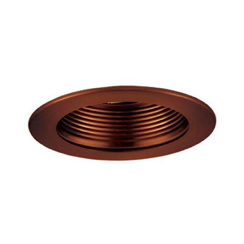 Jesco Lighting TM401AB 4-Inch Aperture Low Voltage Trim Recessed Light, Adjustable Step Baffle, Antique Bronze Finish