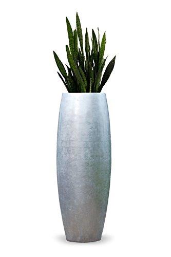 Exklusiver großer Blumenkübel Pflanzkübel Fiberglas
