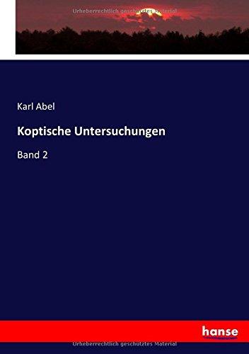 Read Online Koptische Untersuchungen: Band 2 (German Edition) ebook