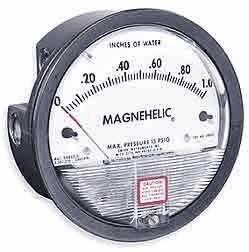 Dwyer Differential Pressure Gauge - Dwyer 2010 Magnehelic Differential Pressure Gauge, Type, 0 to 10