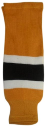 fan products of DoGree Hockey Boston Bruins Knit Hockey Socks, Gold/White/Black, Youth/20-Inch
