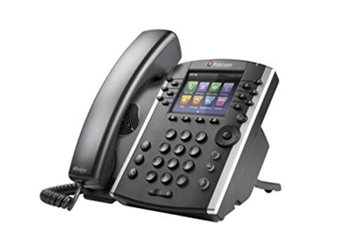 Polycom 2200-46162-025 VVX 410 12-Line IP Phone Gigabit PoE (Power supply not included) (Renewed)