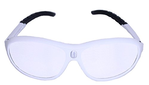 Python Prescription Adaptable Racquetball (Squash) Eye Protection, (Eyewear, Goggle, Eyeguard) - White