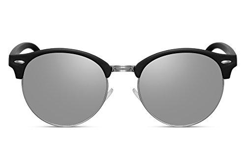 Ca Noir Cheapass Miroitant Hommes 028 Clubmaster Rétro Sunglasses Femmes vYwqzCv