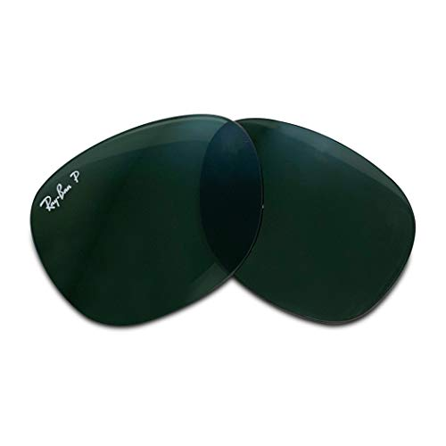 Ray-Ban Original NEW WAYFARER RB2132 Crystal Green Polarized Replacement Lenses 55MM+FREE Complimentary Eyewear Care Kit