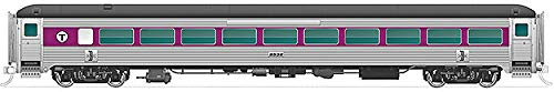 New Haven 8600-Series Coach No Skirts - N Gauge Ready to Run - Massachusetts Bay Transit Authority #2524 (Stainless, Purple, Black)