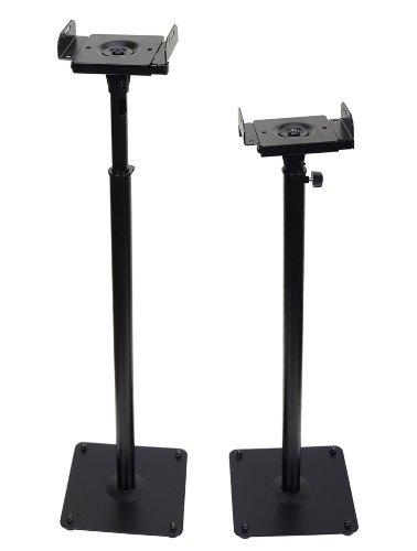 VideoSecu 2 PA DJ Club Adjustable Height  Floor Speaker Stan