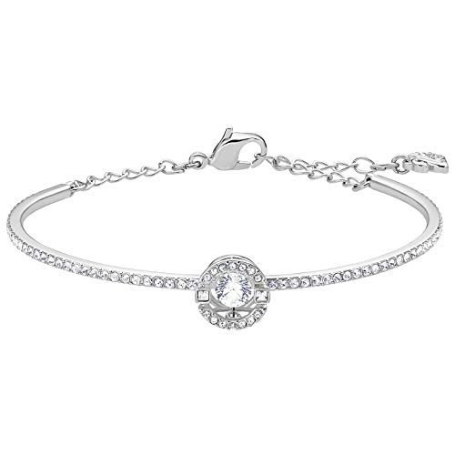 - Swarovski Crystal Sparkling Dance Round Bangle Rhodium Plated Medium