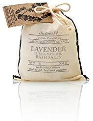 Elizabeth W Bath Pouch - elizabethW Lavender Bath Salts in Bag - 16 oz