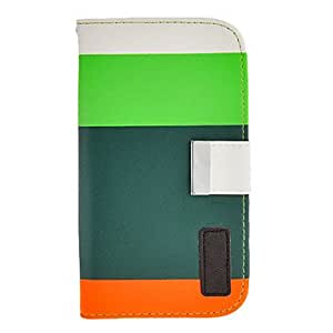 CL - Color de costura del patrón de la PU bolsas de cuero para Samsung Galaxy I9082 (Color Distinguido por la cubierta trasera endotecio) , Azul
