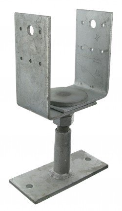 Simpson PVDB80G Column Base PVDB 80g/W Height Adjustable Hot-Dip Galvanised with Certification by Simpson (Image #4)