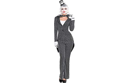 (Party City The Nightmare Before Christmas Jack Skellington Halloween Costume for Women, Medium, with Accessories Black,)