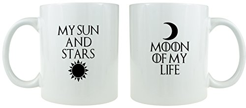 My Sun and Stars, Moon of My Life - Ceramic Coffee Mug Set - Makes a Great Gift for Game of Thrones Fans!