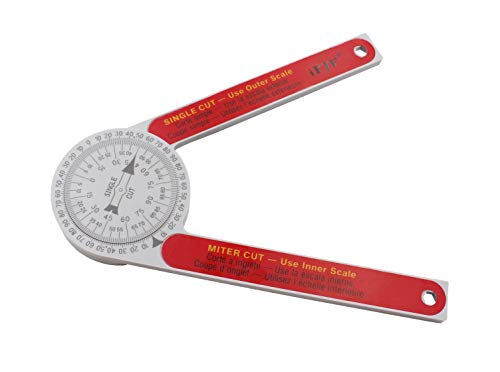 - Miter Saw Protractor angle measuring transfer rule replace the #505P-7 Protractor for miter cuts, plumbers, carpenters plastic red
