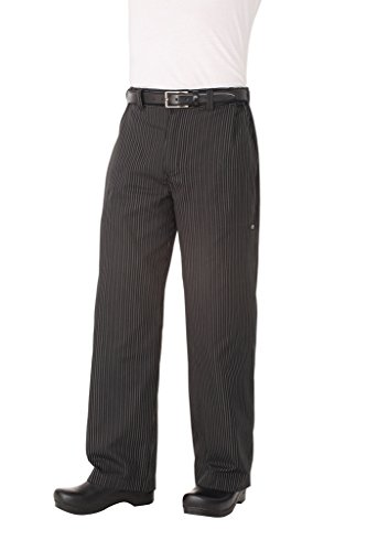 Chef Works Men's Professional Chef Pant, Gray Stripe, Small (Chef Pants Style)
