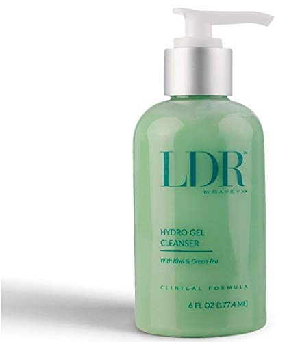 LDR by Baysyx - Hydro Gel Cleanser with Kiwi & Japanese Green Tea (6 Oz) | Premium Hydration & Moisturizing Facial Cleanser | Non Foaming for Sensitive Skin | Made in The USA from Natural Ingredients