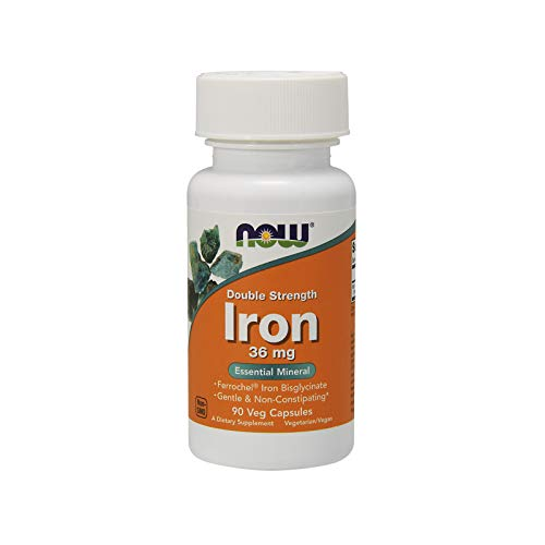 NOW Supplements, Iron 36 mg, 90 Veg Capsules