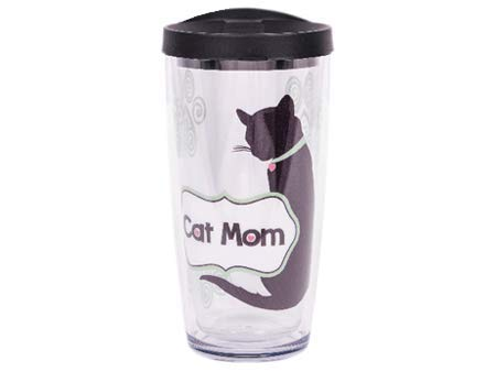 Dog Speak - Vaso térmico con tapa negra para gato: Amazon.es: Hogar