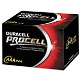 - Procell Alkaline Batteries, AAA, 24/Box