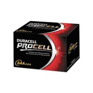 - Procell Alkaline Batteries, AAA, 24/Box