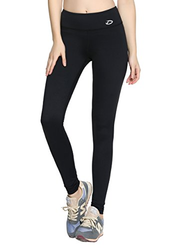 Dynamic Athletica Compression Workout Leggings - Workout Clothes and Yoga Pants (X-Large, Black)