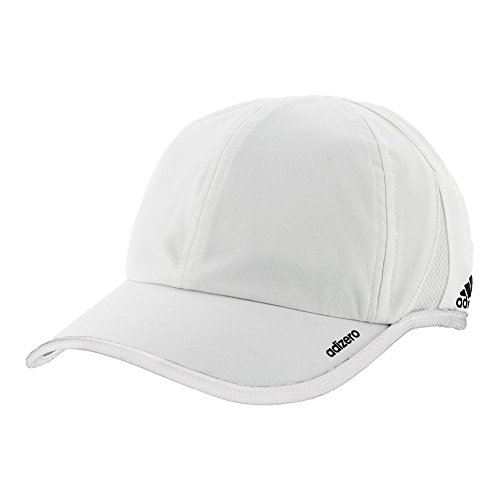 Tennis Mens Hat (adidas  Men's adiZero II Team Cap White/Black One Size)