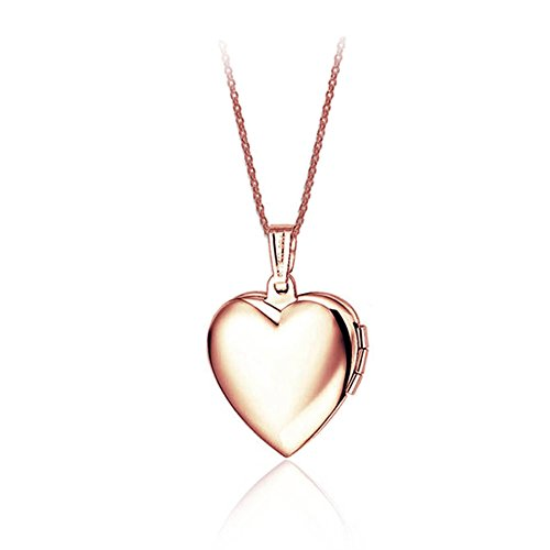 Price comparison product image Stainless Steel Friend Photo Picture Frame Heart Locket Pendant Necklace