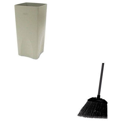 KITRCP356300BGRCP637400BLA - Value Kit - Rubbermaid Plaza Waste Container Rigid Liner (RCP356300BG) and Rubbermaid-Black Brute Angled Lobby Broom (RCP637400BLA) by Rubbermaid