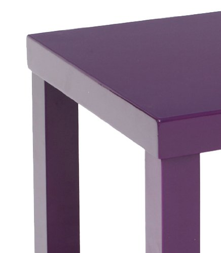 Laquée PruneCuisineamp; Maison Table Carrée Basse 45x45x45 yvf67YbgI