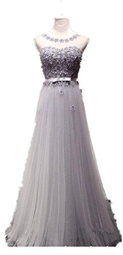 Pretty Fashion Damen ALinie Lang Spitze Brautkleid Abendkleid ...