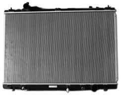 TYC 13037 Lexus LS460 1-Row Plastic Aluminum Replacement Radiator