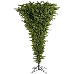 Vickerman Green Upside Down Tree with Dura-Lit 250 Clear Lights and 519 PVC Tips, 5.5-Feet by 38-Inch
