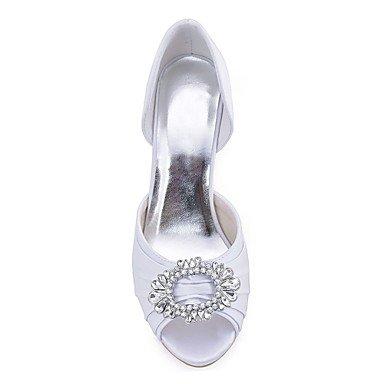 us6 para Pump eu36 regalo uk4 boda Tacón cn36 para de Básico Zapatos Zapatos Satén Noche Mujer mejor madre Punta Cristal Stiletto Elástico abierta mujer El y Primavera Fiesta Verano y Boda p7Bfn