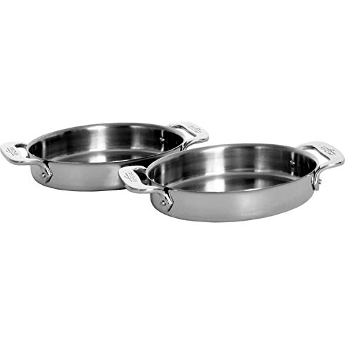 All-Clad Stainless 22 Ounce Oval Bakers - Set Of 2