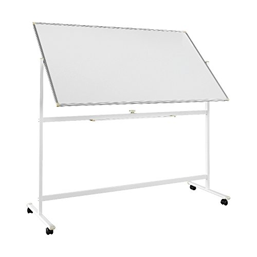 "VIOTEK VB7036 70""x36"" Mobile Whiteboard: Streak-Free & Double Sided with 360° Rotation by Viotek"