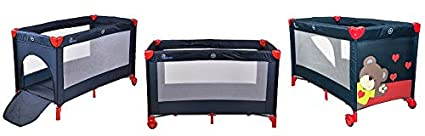 Travel Cot with a Sleeping Mattress for Children Mobile Travel Package Green Traveling Portable and Foldable Bed Height-Adjustable Chiccot