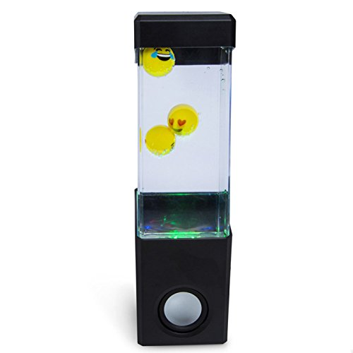 Bass Jaxx Dancing Water Speaker! Three Different Designs! Shark! Jellyfish! Emoji! USB Powered! Enjoy Color Changing Light Show With Or Without Music! (Emoji)